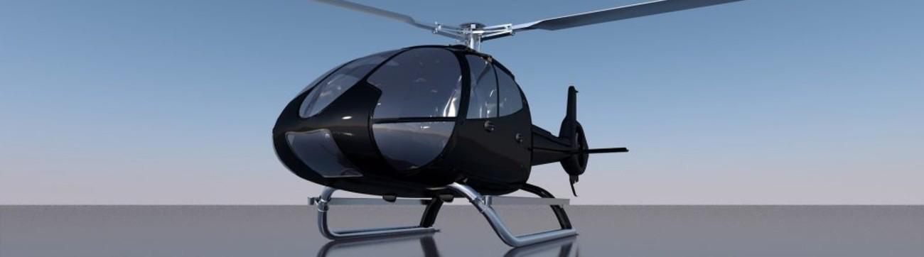 Industrie aéronautique avec un hélicoptère